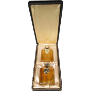 Moulin Rouge Paris Perfume Gift Set - 2 Perfumes in Original Leather Box - 1940's