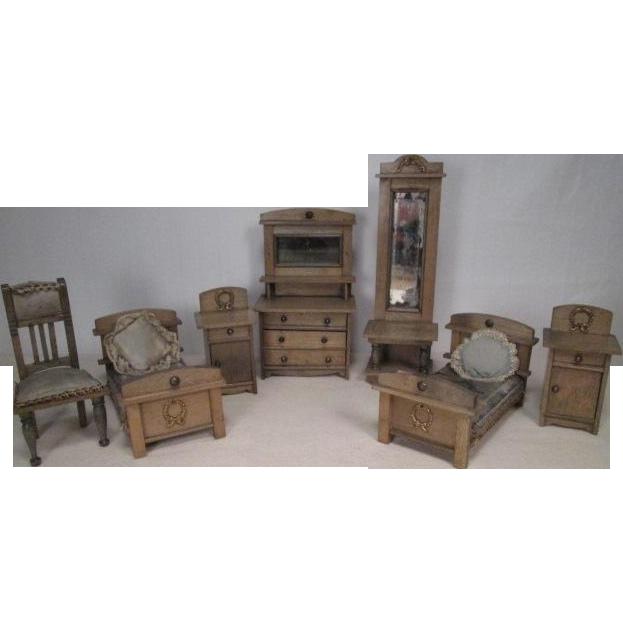 on layaway german dollhouse furniture 7 piece bedroom set