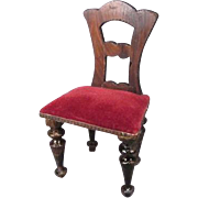 "Faux Grained Dollhouse Chair - Made in Germany mid 1800's - Kestner - 1"" Scale"