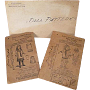 "McCalls Sewing Patterns for 14"" Doll - Turn of the Century Middy Styles - Plus Bonus Pattern - Red Tag Sale Item"