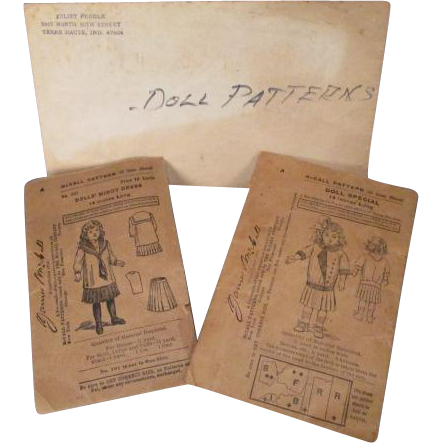 "McCalls Sewing Patterns for 14"" Doll - Turn of the Century Middy Styles - Plus Bonus Pattern"