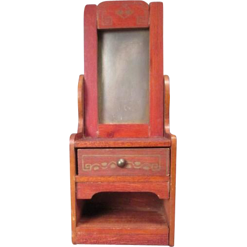 "German Dollhouse Furniture - Hall Stand with Mirror - 1"" Scale"