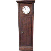 """German Doll House Furniture - Red Stain Grandfather Clock - 3/4"""" Scale"""