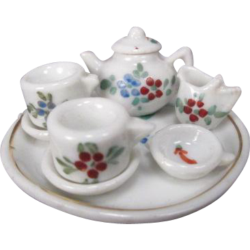 Tiny Dollhouse Tea Set - Made in Germany - 1/12 Scale