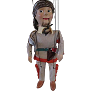 Davy Crockett Collectibles - Peter Puppet Playthings Marionette, Disney Pencil Case and Plastic Toy Gun