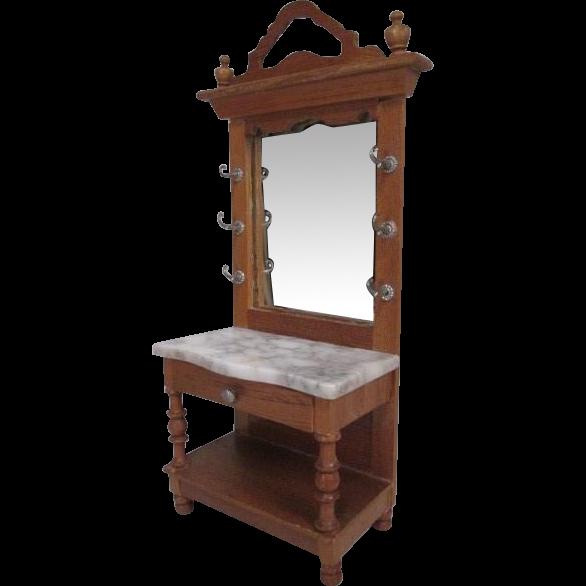 German Dollhouse Furniture Schneegas Golden Oak Hall
