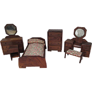 "Nancy Forbes Dollhouse Furniture - 6 Piece Bedroom Set - 1"" Scale"