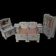"Reserved for M - German Dollhouse Furniture - Gottschalk 6 Piece Bedroom Set - Large 1"" Scale"