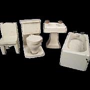"Vintage Dollhouse Furniture - Schoenhut Bathroom - 3/4"" Scale"