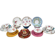 Crown Staffordshire Miniature Tea Cup & Saucer - Your Choice