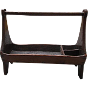 """Primitive Hand Hewn Oak Tool Caddy - Very Large at 23"""" Long"""