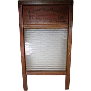 "Primitive National #860 Wash Board with Ribbed Glass - 24"" Tall"