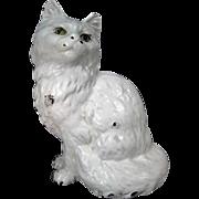 "Hubley Cast Iron Doorstop - Seated Persian Cat #302 - 9"" Tall"