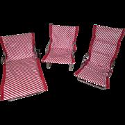 Watko Doll Furniture - 3 Piece Beach Set from 1957 - Cissette