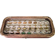 Unusual Antique Box of Cuff Links - Salesman's Sample or Store Display - Early 1900's