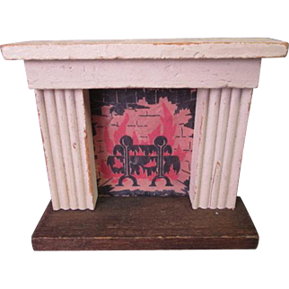 "Vintage Miniature Dollhouse Furniture - Kage Fireplace Mantle - 3/4"" Scale"