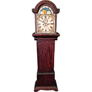 "Wooden Dollhouse Furniture - Grandfather Clock - 1"" Scale"