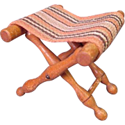 "Vintage Dollhouse Furniture - Schneegas Folding Luggage Rack - 1"" Scale"