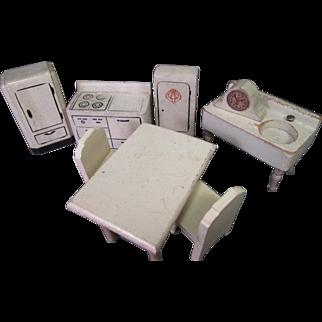 Vintage Dollhouse Furniture - Kage Kitchen Set - 1938 to 1948