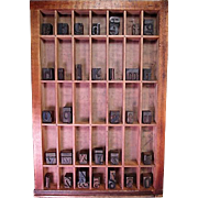 Printer's Tray or Drawer with Wood Block Letters and Numbers - Letterpress - Red Tag Sale Item