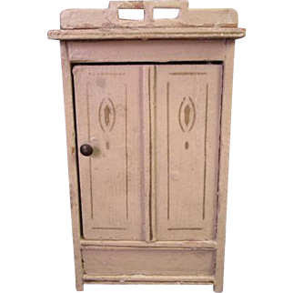 "Vintage Dollhouse Furniture - Gottschalk Wardrobe Armoire - Made in Germany - 1"" Scale"