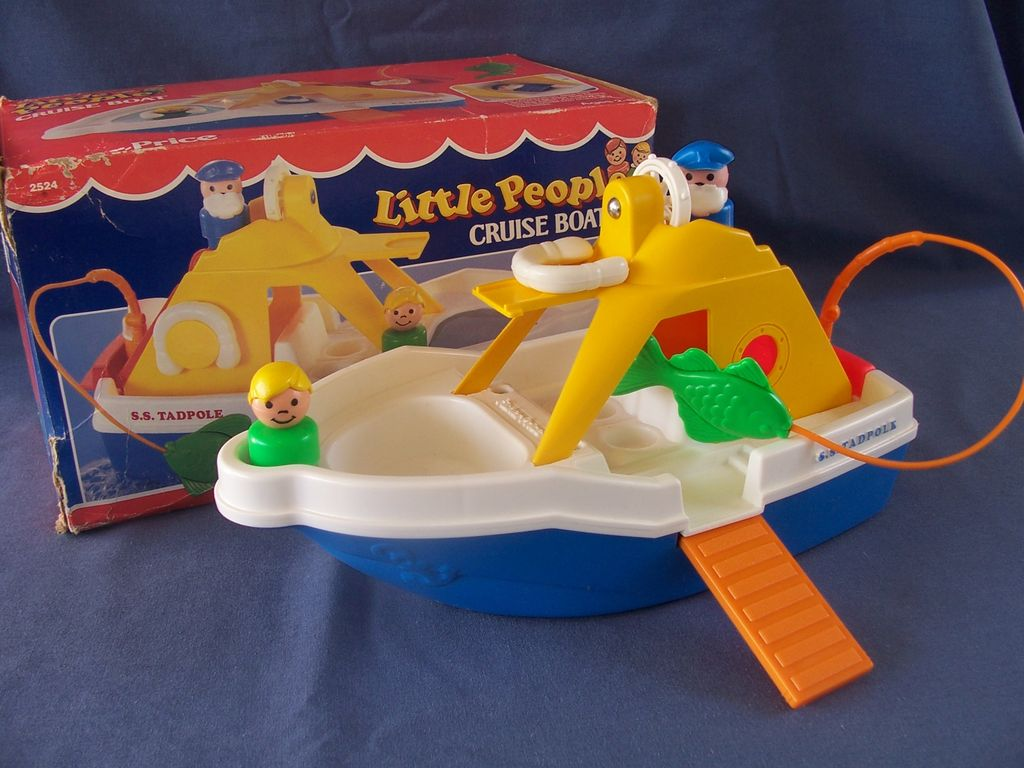 Fisher price little people cruise boat complete with box for Fisher price fishing pole