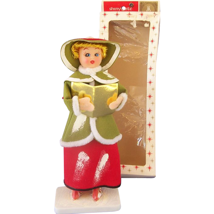 Shiny Brite Christmas Caroler in Box