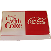 Vintage Double Sided Coca Cola Sign