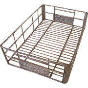 Vintage Metal Coca Cola Crate