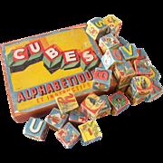 1930's French Cube Alphabetiques - Complete Set