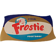 Vintage Frostie Root Beer Cardboard Counter Display Sign