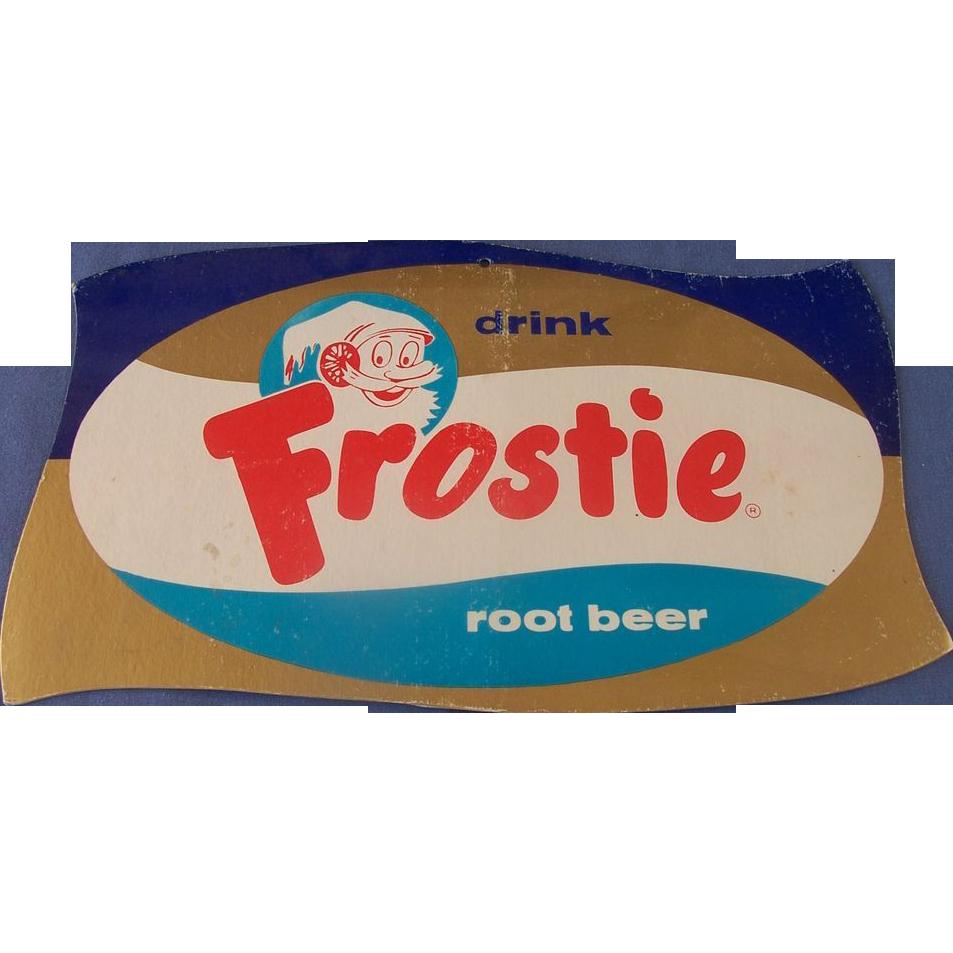 Vintage Frostie Root Beer Counter Display Sign