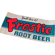 Vintage Frostie Root Beer Window Sign
