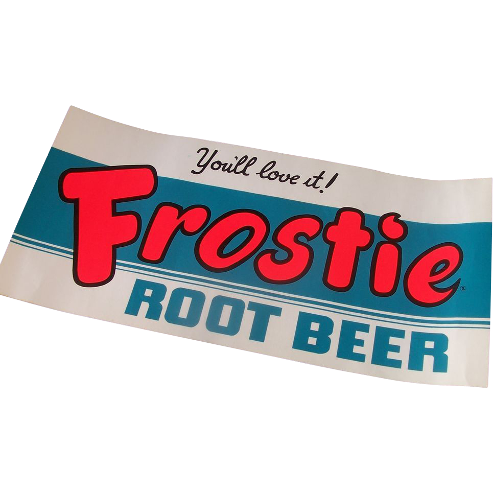 Vintage Frostie Root Beer Window Sign