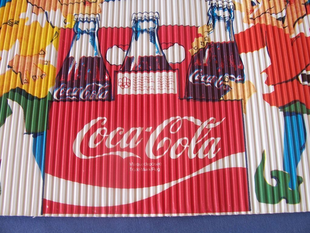 Coca Cola Corrugated Sign Olympic Games