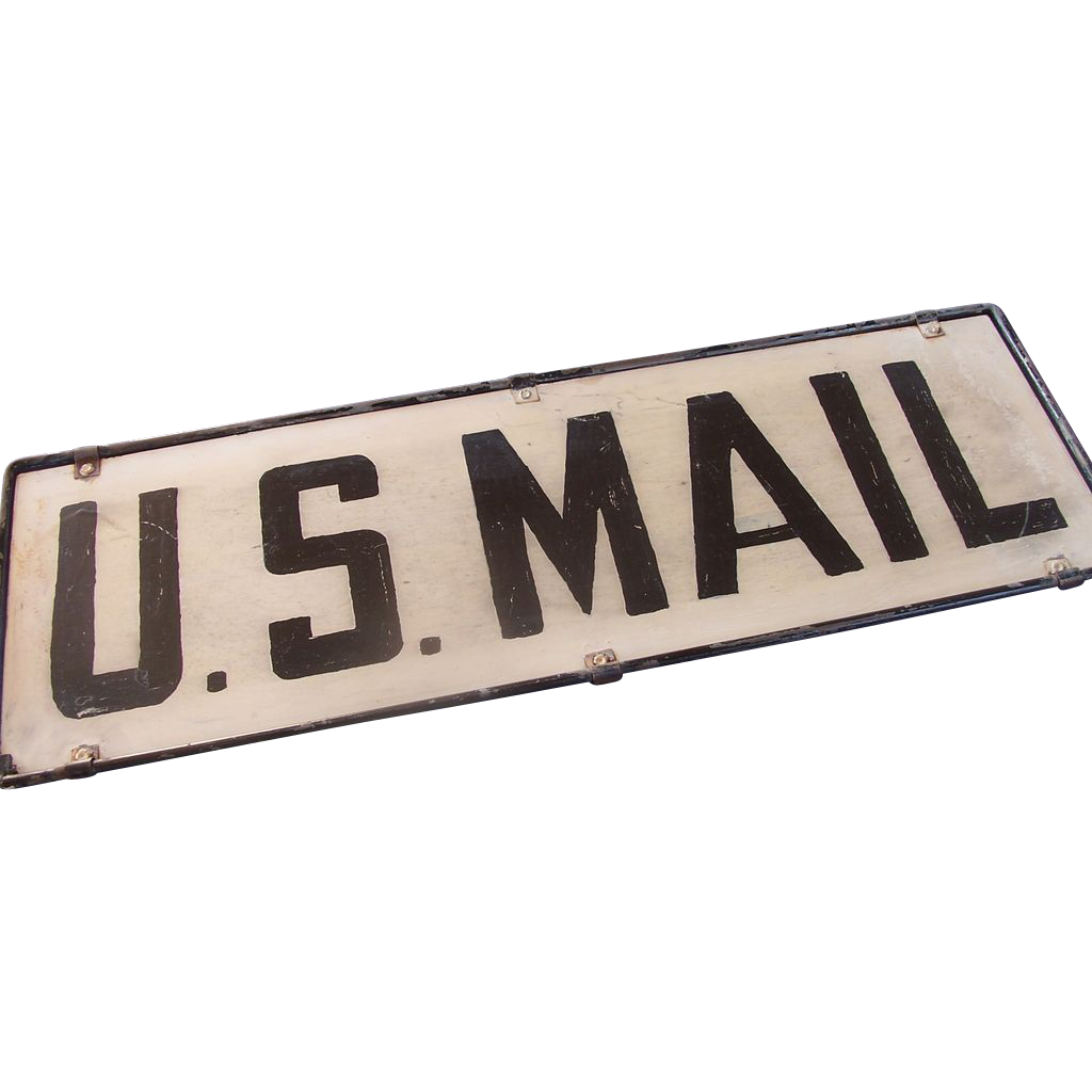U.S. Mail Sign