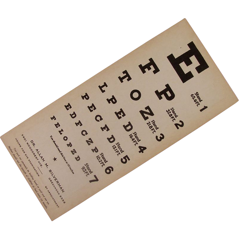 Vintage Eye Test Chart
