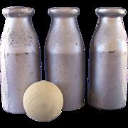 Vintage Carnival Knockdown Milk Bottles