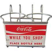 Vintage Coca Cola Shopping Cart Carrier