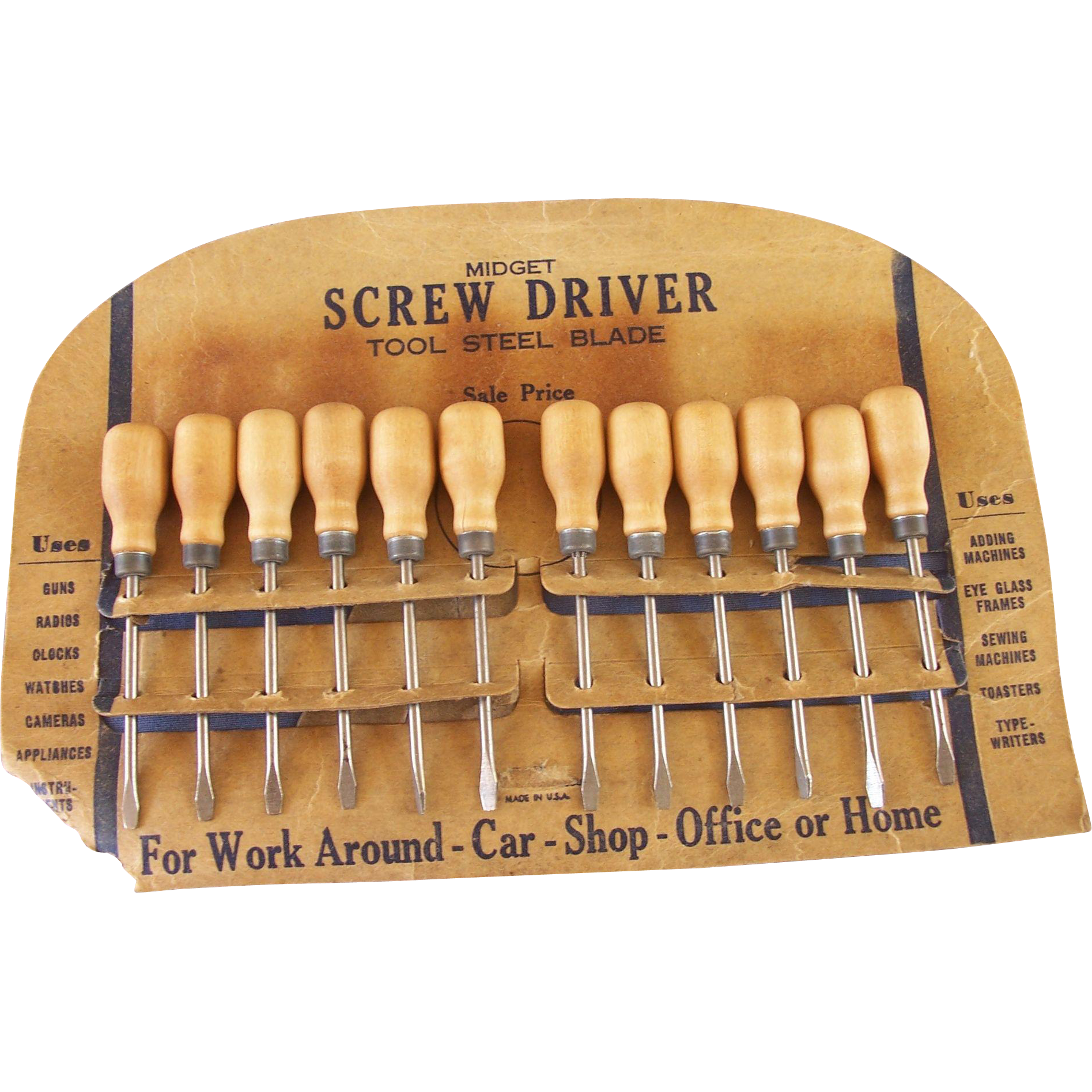 Vintage Midget Screwdriver Store Display