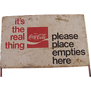 Coca Cola Place Empties Here Sign