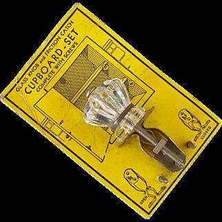Vintage Glass Cupboard Set on Display Card