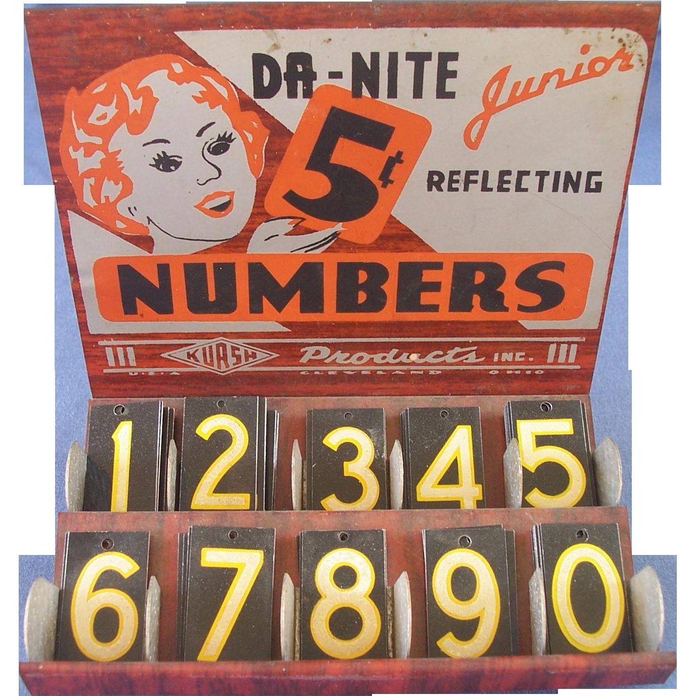 Junior Reflecting Numbers Store Display