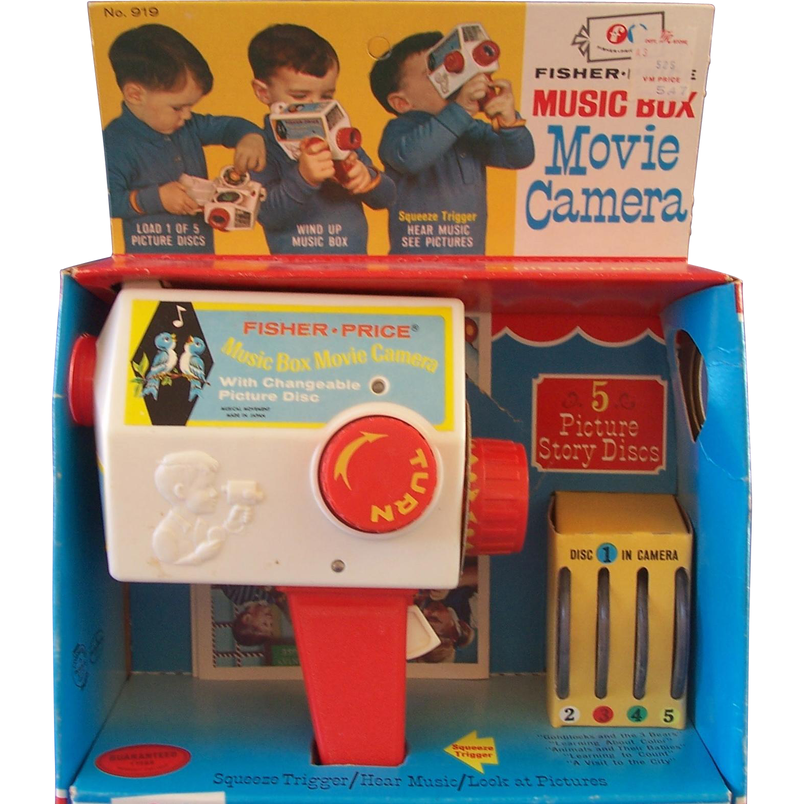 Fisher Price Music Box Movie Camera - Original Box
