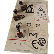 1960's Children's Eye Chart Set