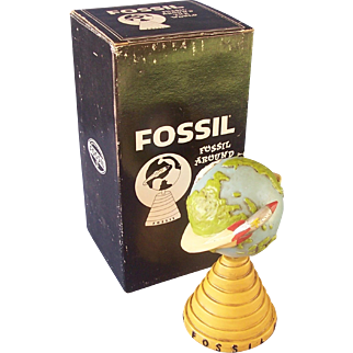 Fossil Rocket Globe Store Display with Box