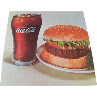 Enjoy Coca Cola and Hamburger Sign
