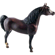 Vintage Breyer Proud Arabian Stallion Dark Bay Traditional Size Model Horse