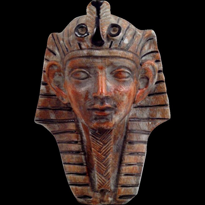 Vintage Italian Pottery Sphinx Tut Luxardo Wine Decanter Single Bust
