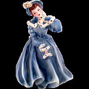 Florence Ceramics Clarissa Vintage 1950s Design Blue Dress Bonnet